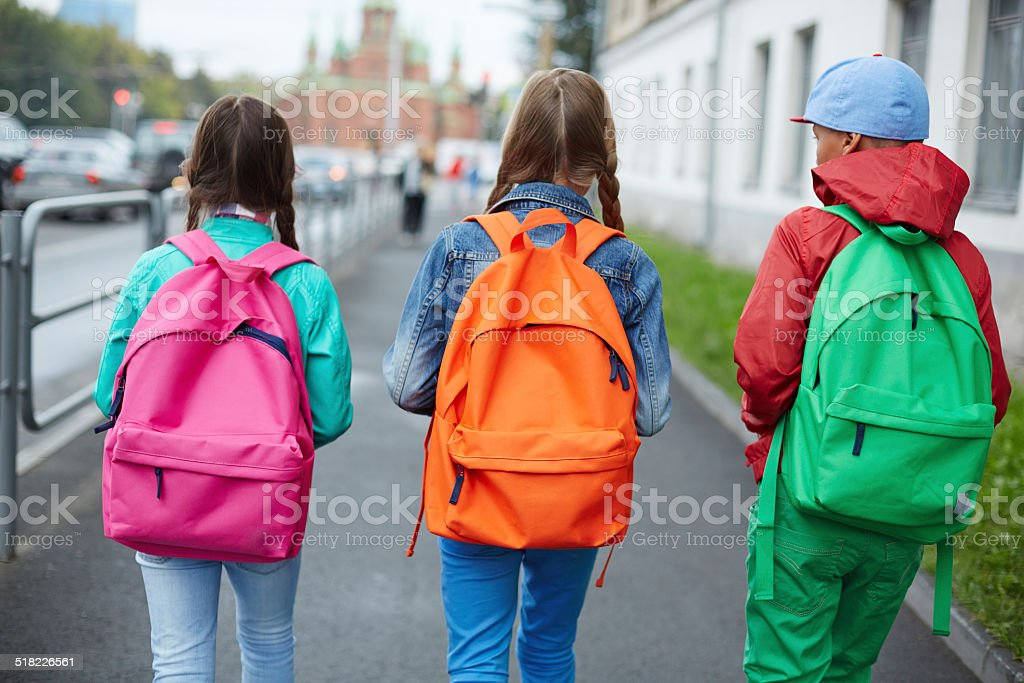 Going to school stock photo