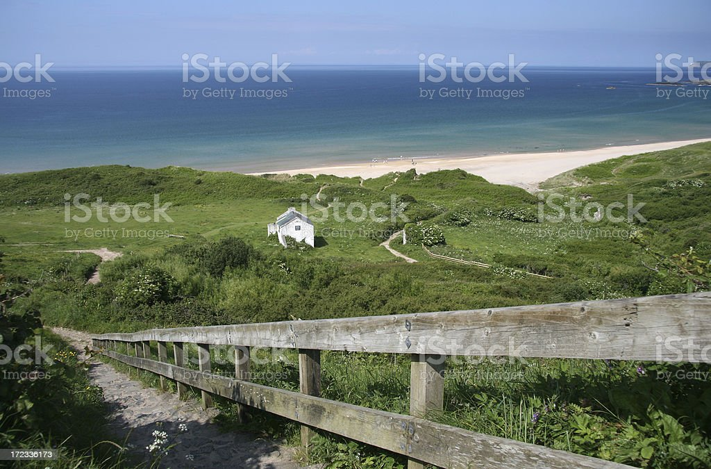 Going to the beach royalty-free stock photo