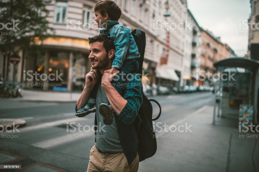 Going to the concert together stock photo