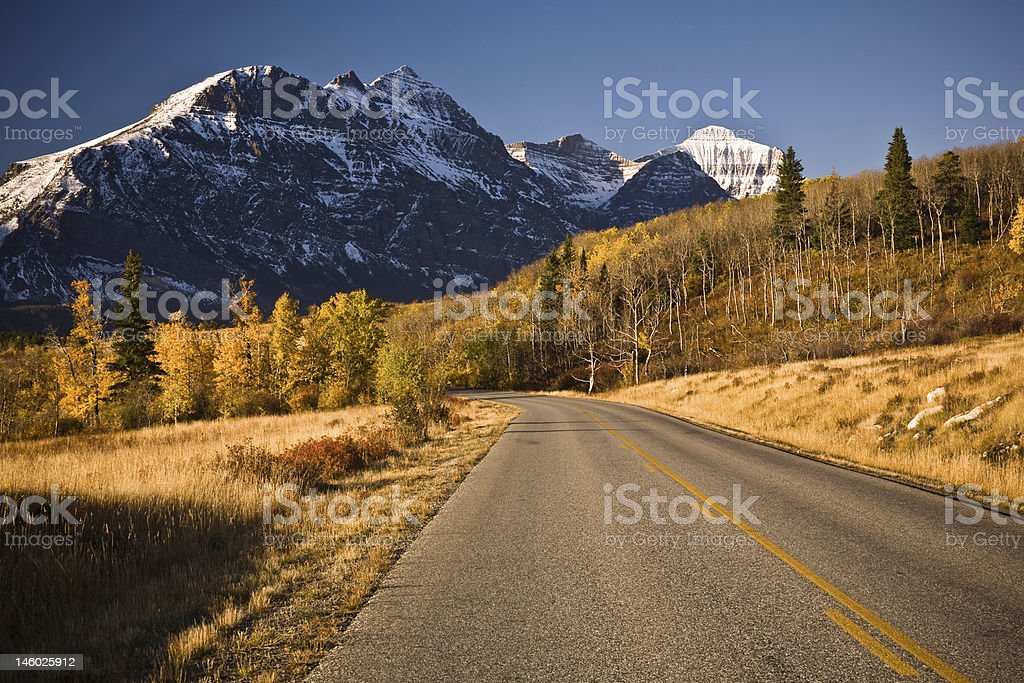 Going to the Sun Road, Glacier National Park stock photo