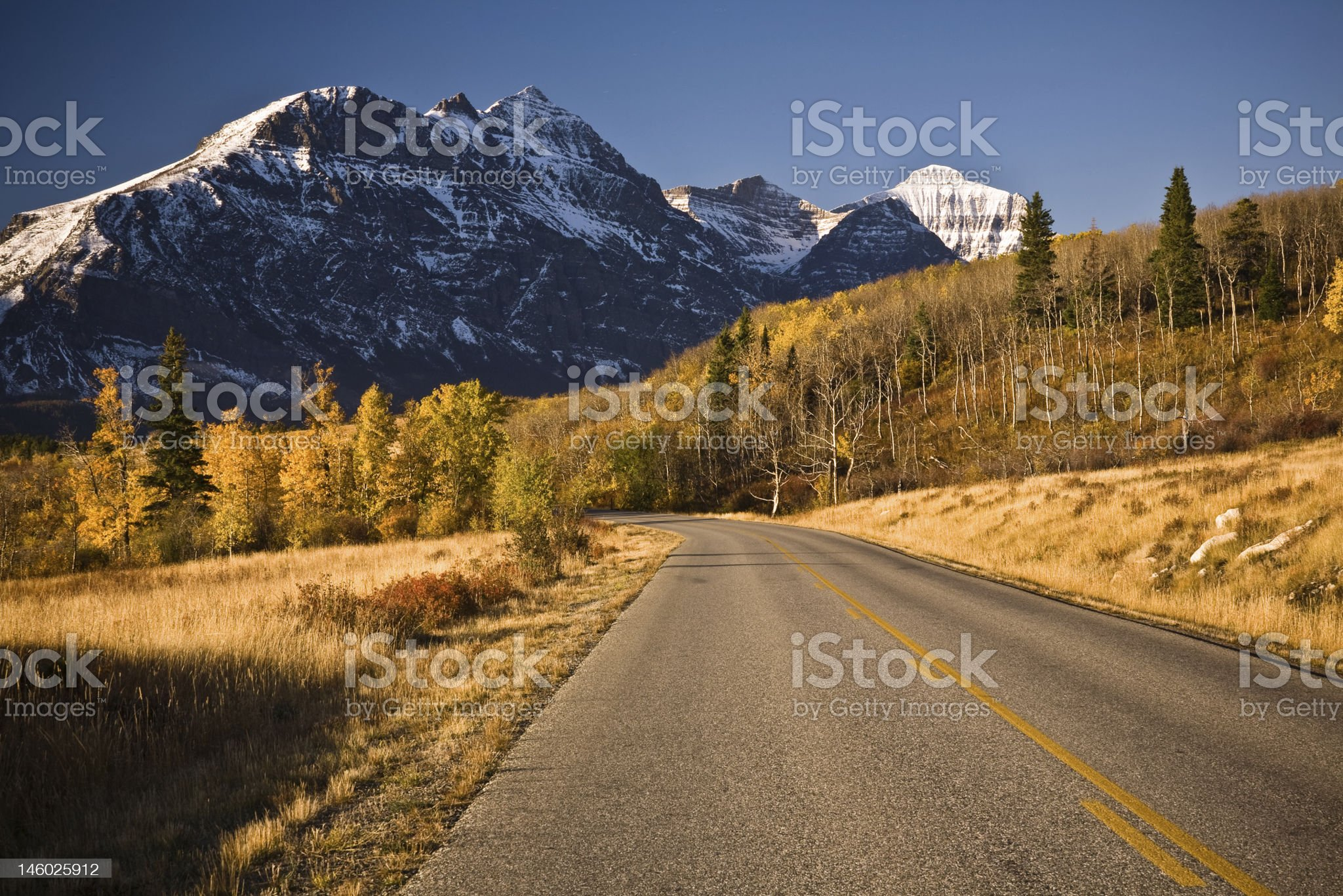 Going to the Sun Road, Glacier National Park royalty-free stock photo
