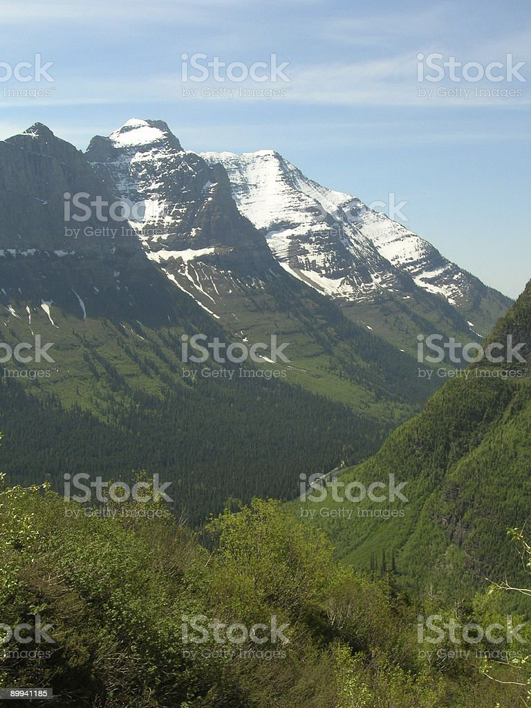Going to the Sun Road - Vertical royalty-free stock photo