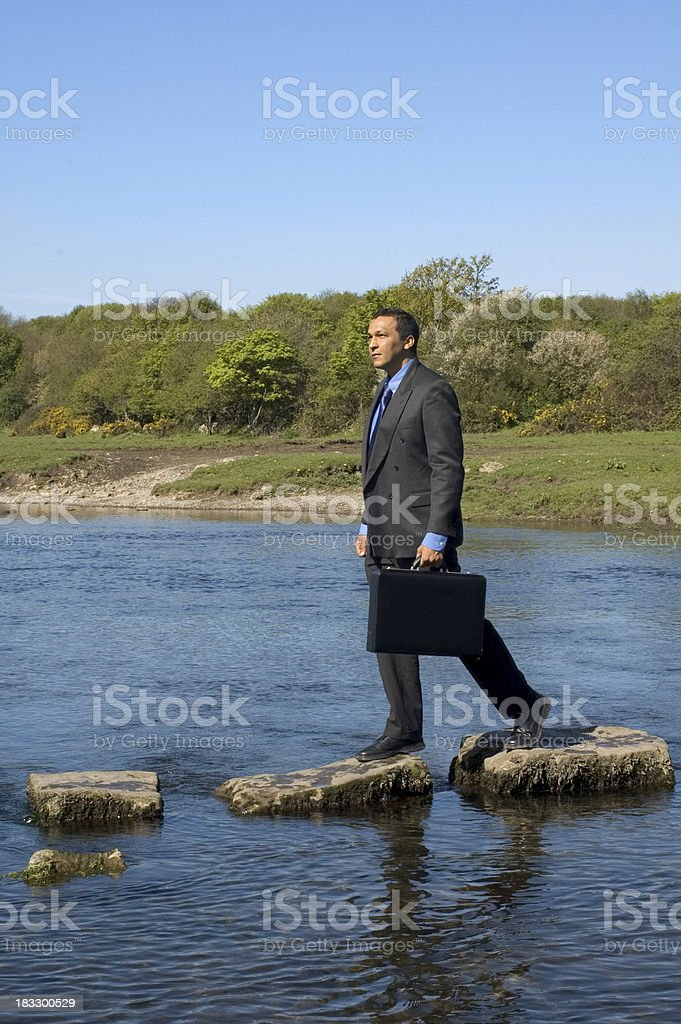 going to work royalty-free stock photo
