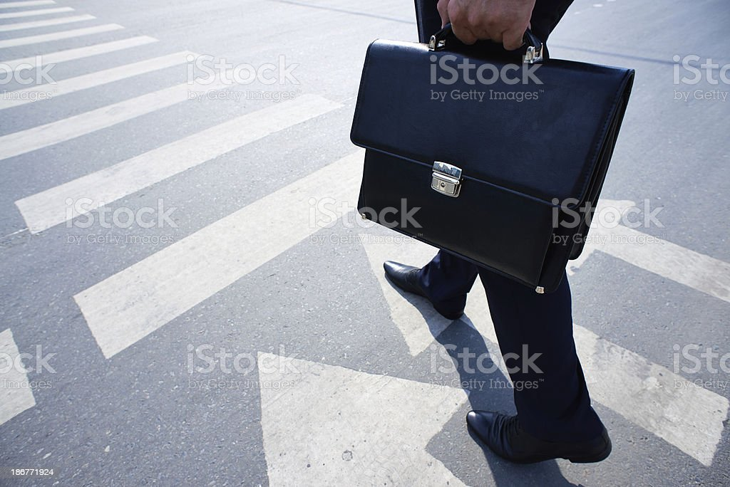 Going to work stock photo