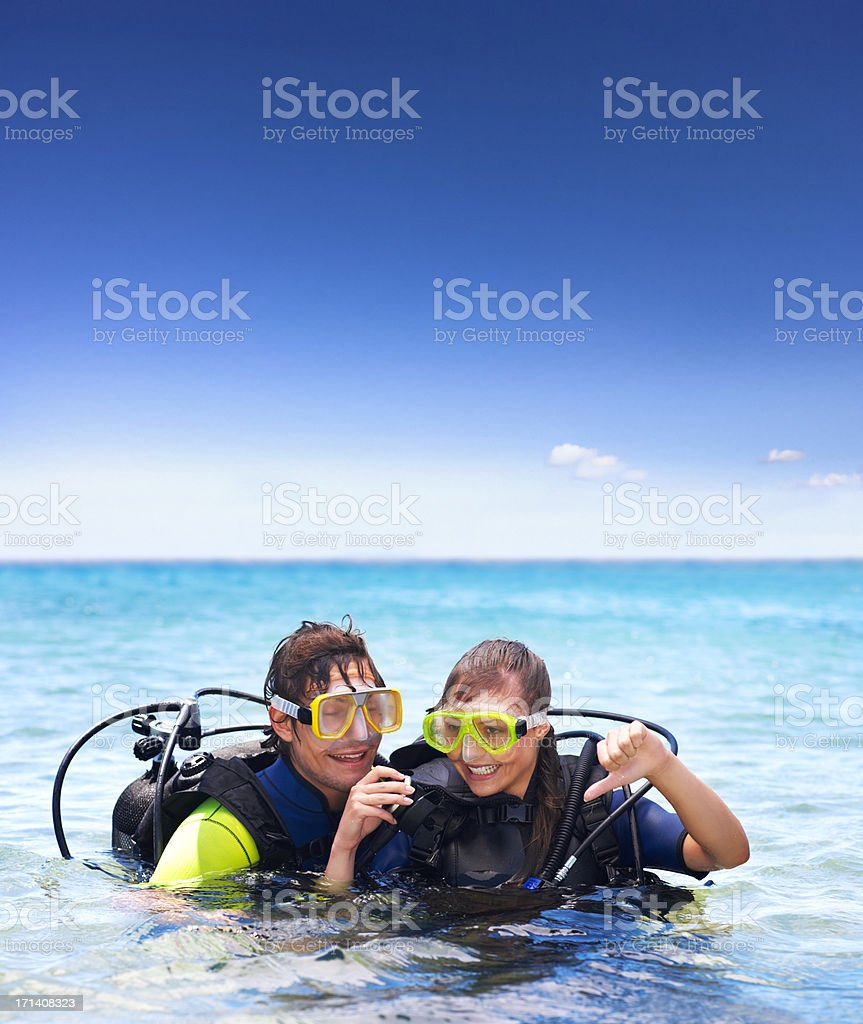 Going under stock photo