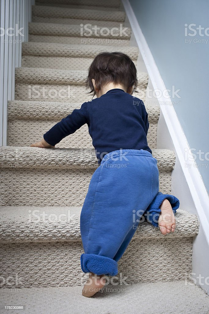 Going up the Stairs royalty-free stock photo