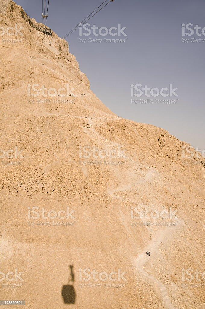 Going Up to Masada stock photo