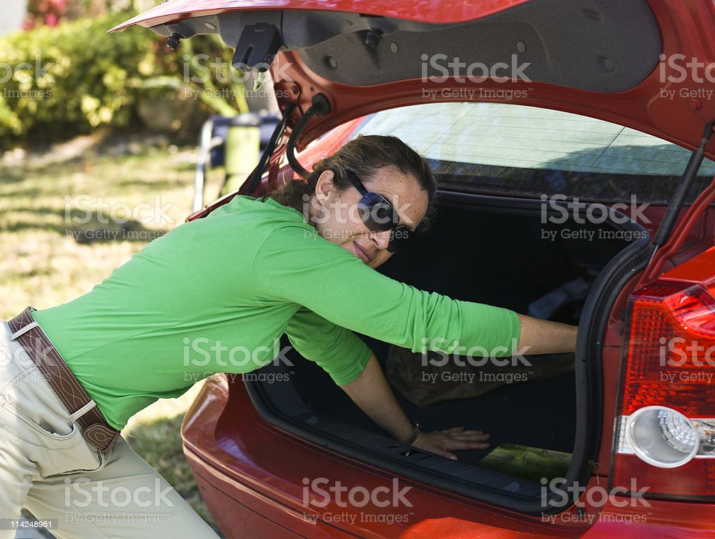 going vacation stock photo