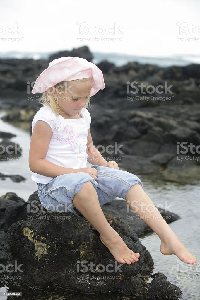 Going Wading royalty-free stock photo