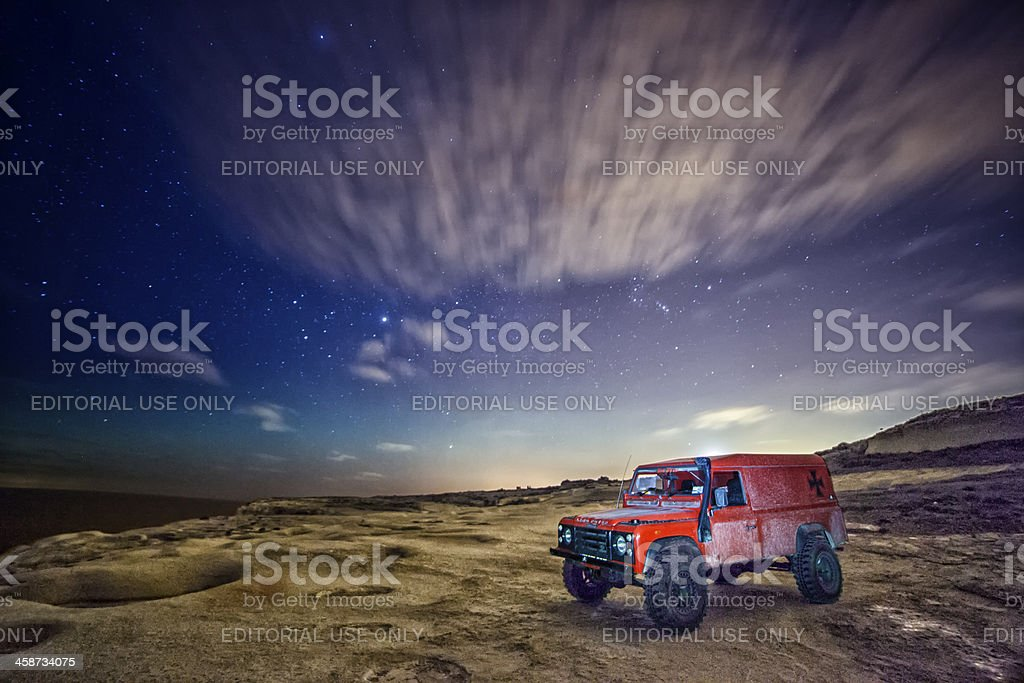 Going Where No Car Has Gone Before stock photo