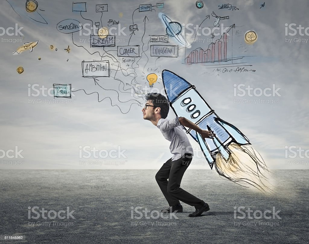 Going with The Rocket stock photo