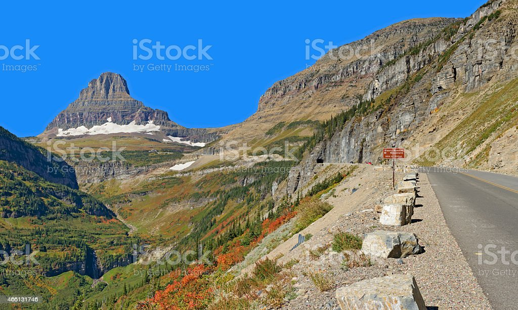 Going-to-the-Sun-Road, East Tunnel stock photo