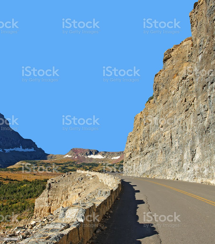 Going-to-the-Sun-Road, Glacier National Park stock photo