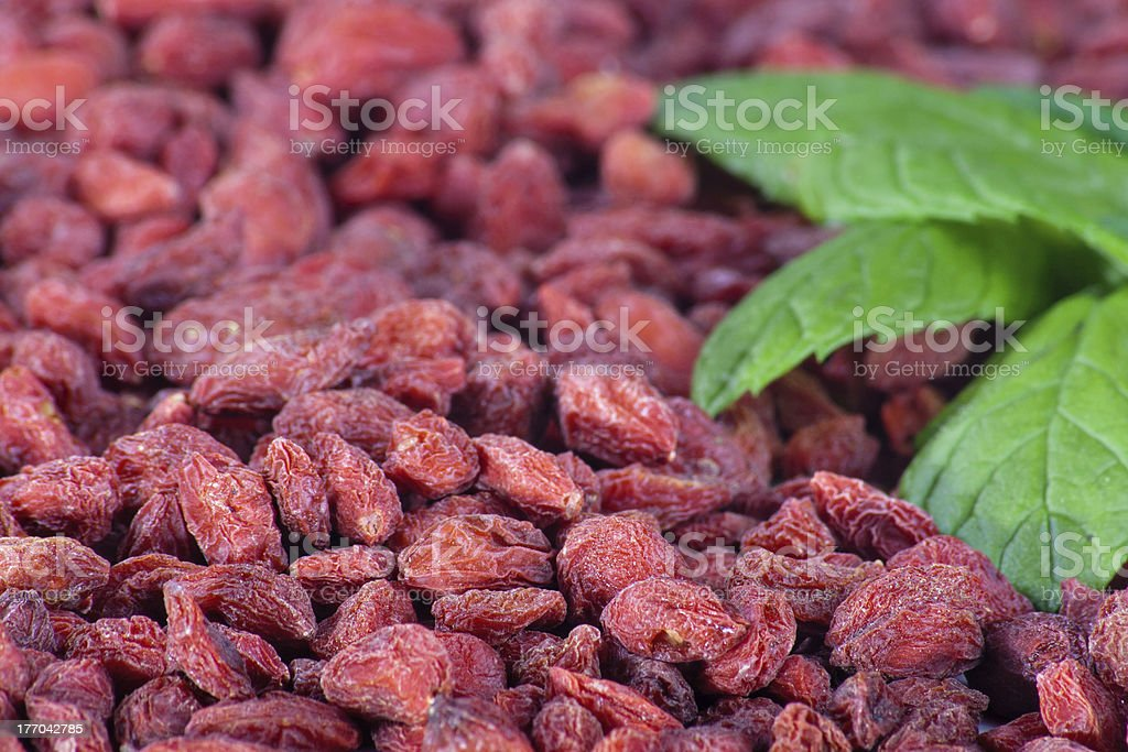 Goji berries close-up royalty-free stock photo