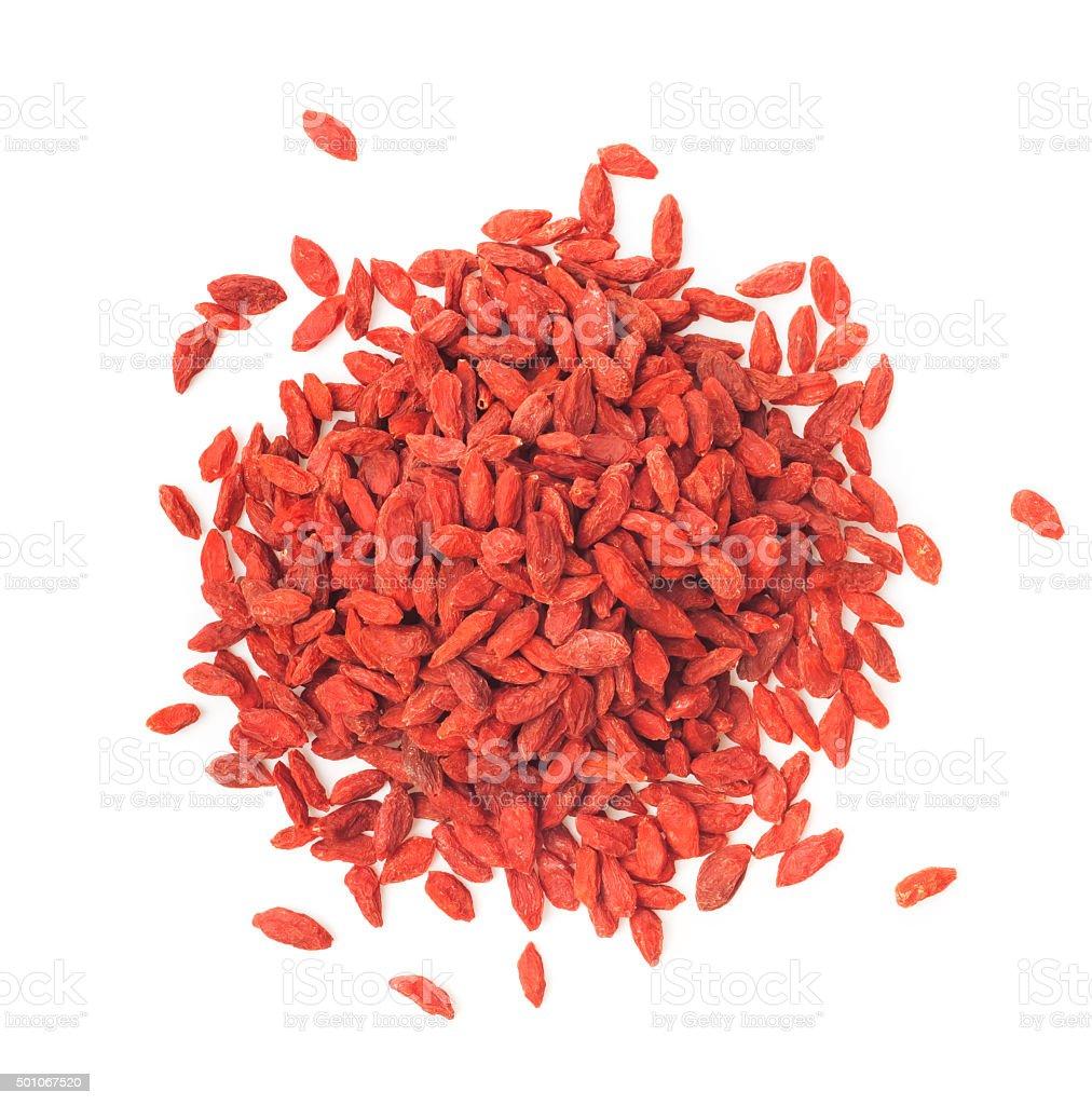 Goji berries on white background stock photo