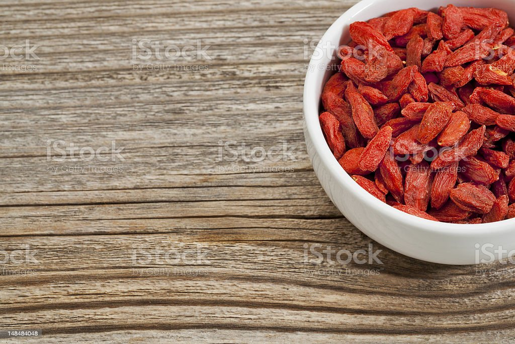 goji berries (wolfberry) royalty-free stock photo