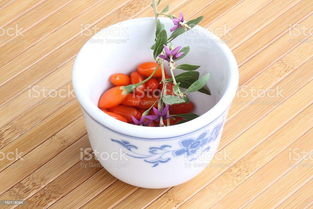 Goji berries royalty-free stock photo