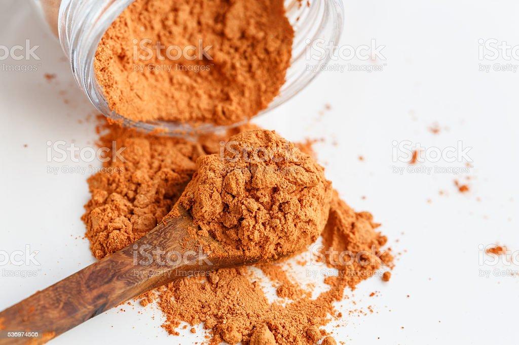 Goji Berries powder stock photo