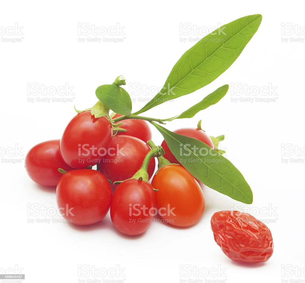 Goji berry isolated stock photo