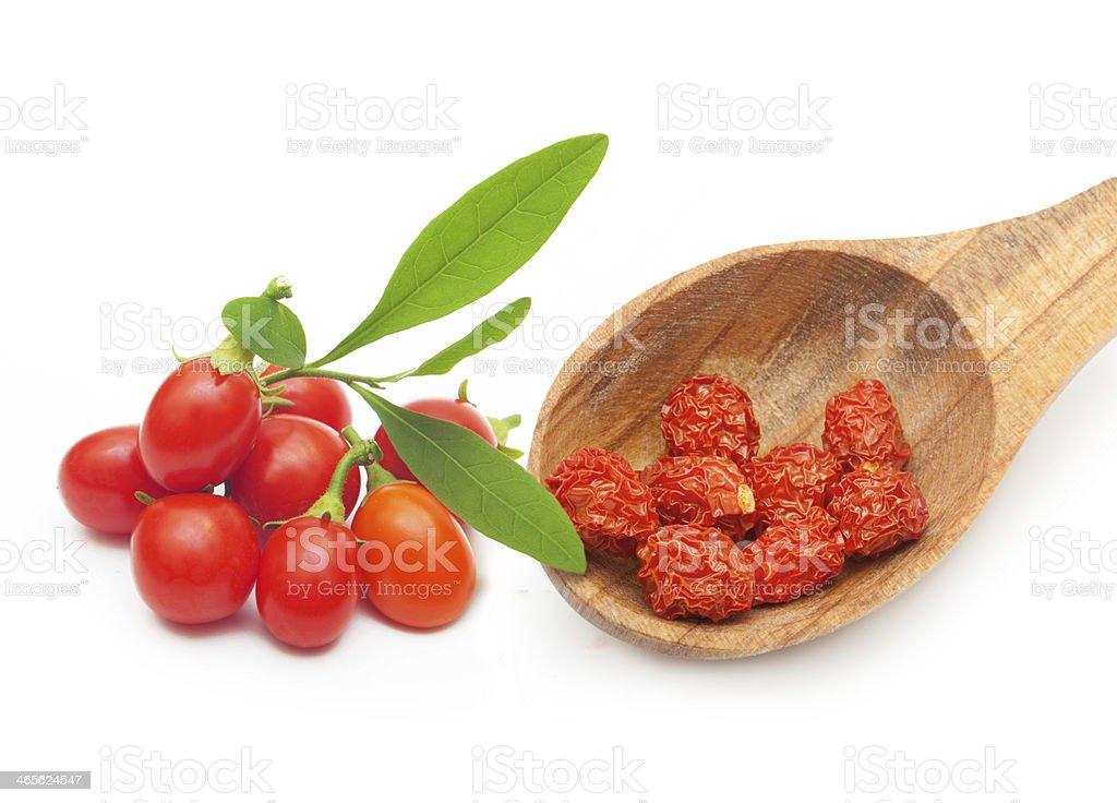 Goji berry isolated stock photo