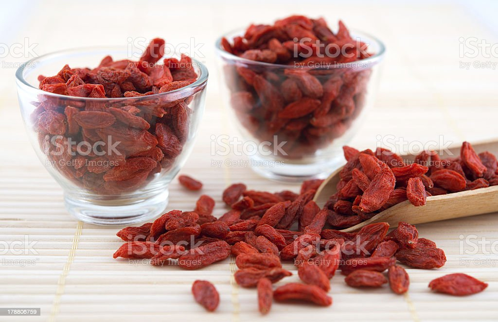 Goji berry, wolfberry or lycium stock photo