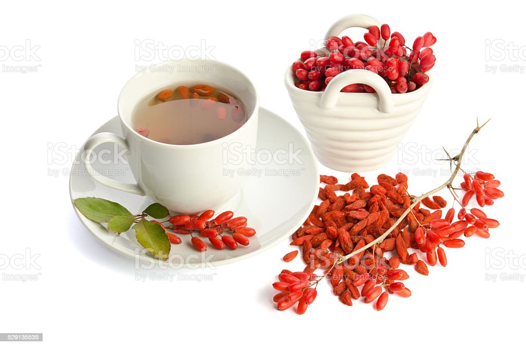 goji fresh antioxidant tea stock photo