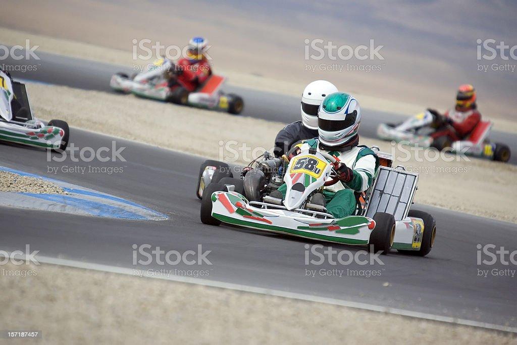 Gokart Racing stock photo
