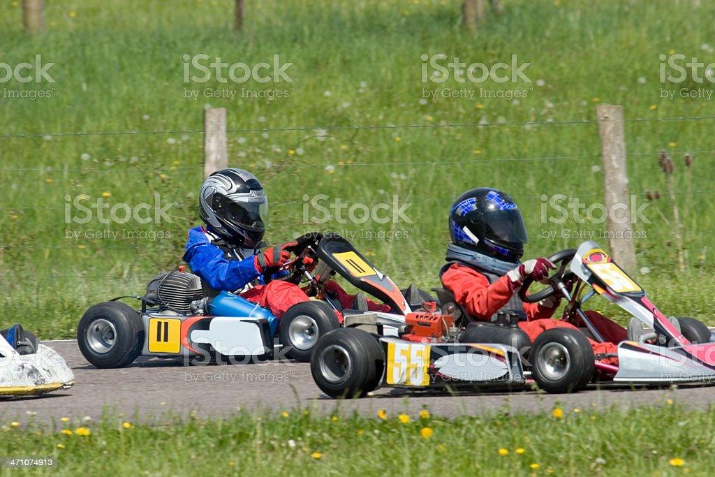 Go-kart racing royalty-free stock photo