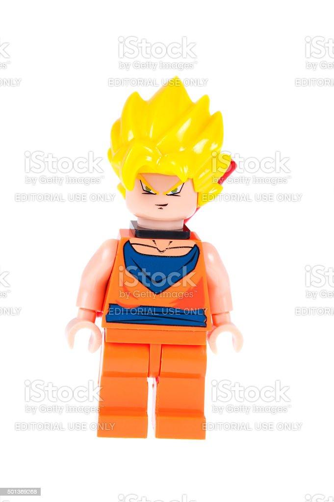 Goku Dragonball Z Custom Lego Minifigure stock photo