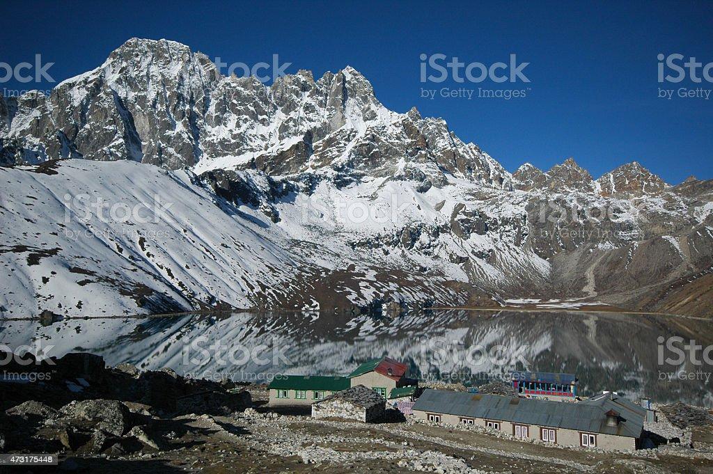 Gokyo lake and Gokyo Ri. Everest trek. Nepal Himalaya. stock photo