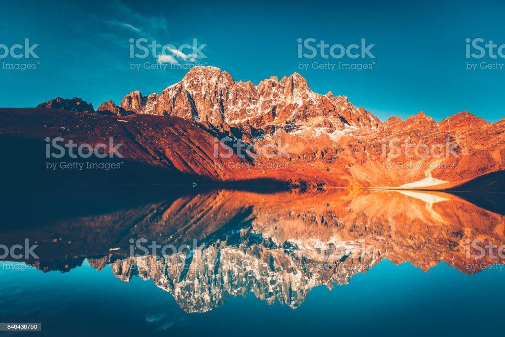 Gokyo lake, Trekking in Everest region, Nepal stock photo