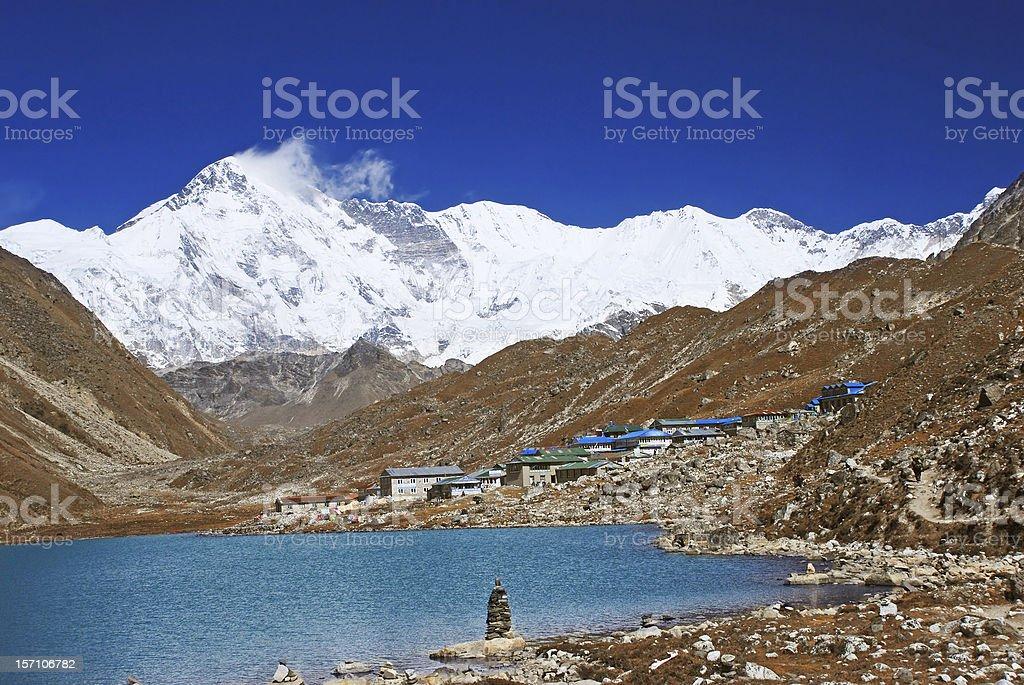 Gokyo village, Himalayas, Nepal royalty-free stock photo