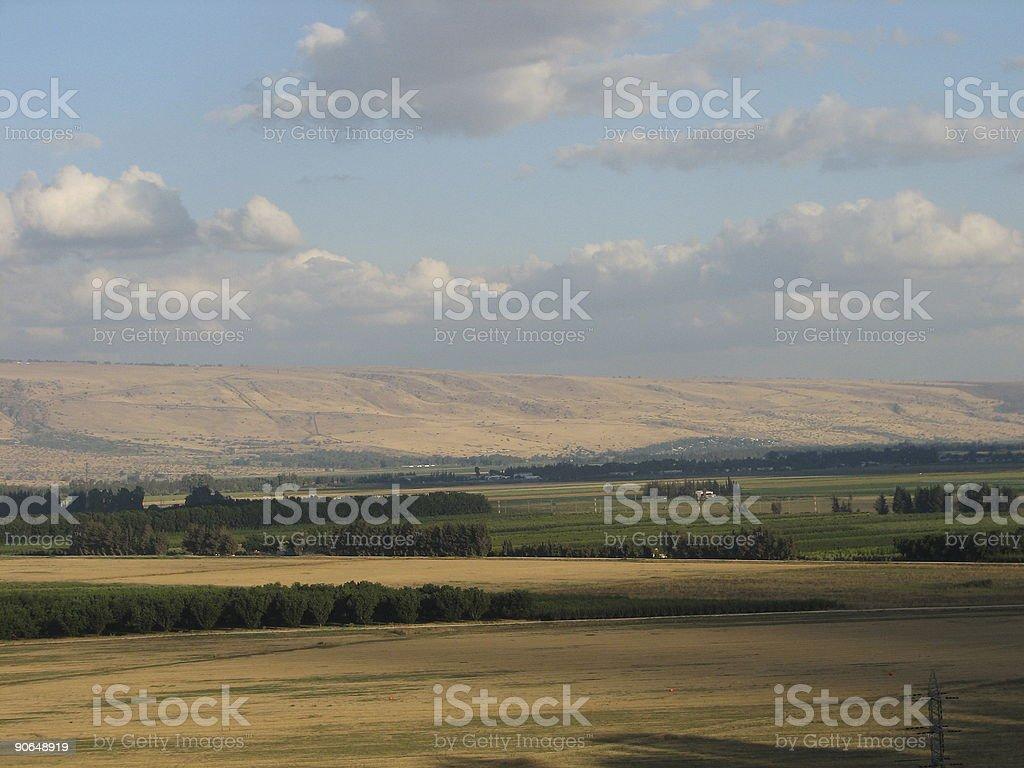 Golan Hights stock photo