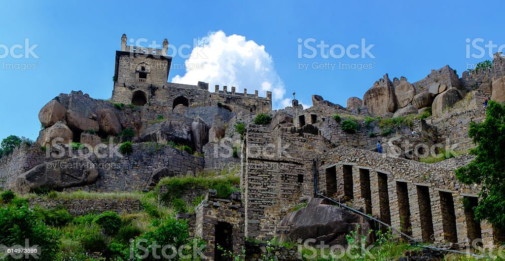 Golconda Fort Area stock photo