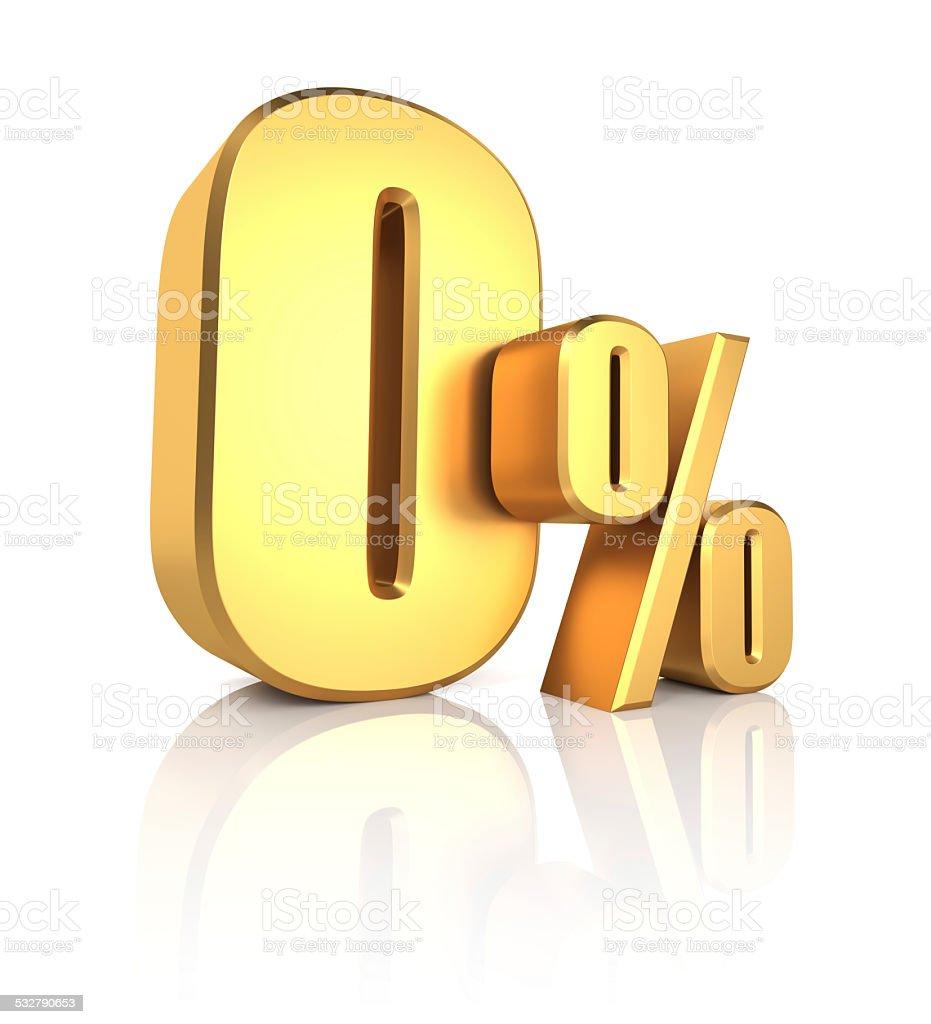 Gold 0 Percent stock photo
