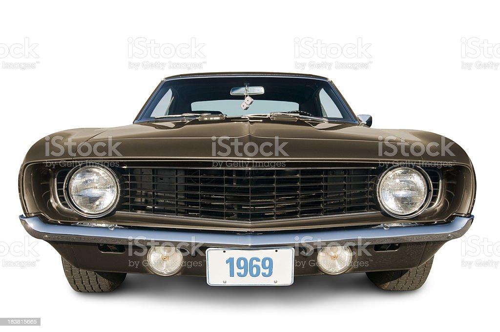 Gold 1969 Camaro stock photo