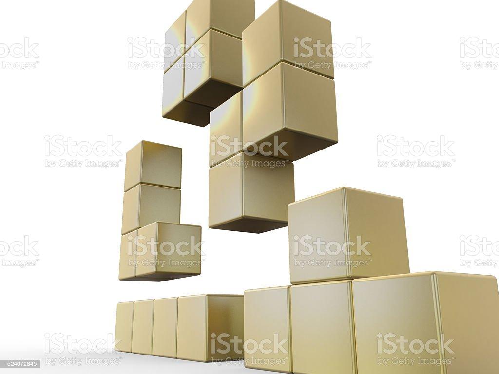 Gold 3D Concept stock photo