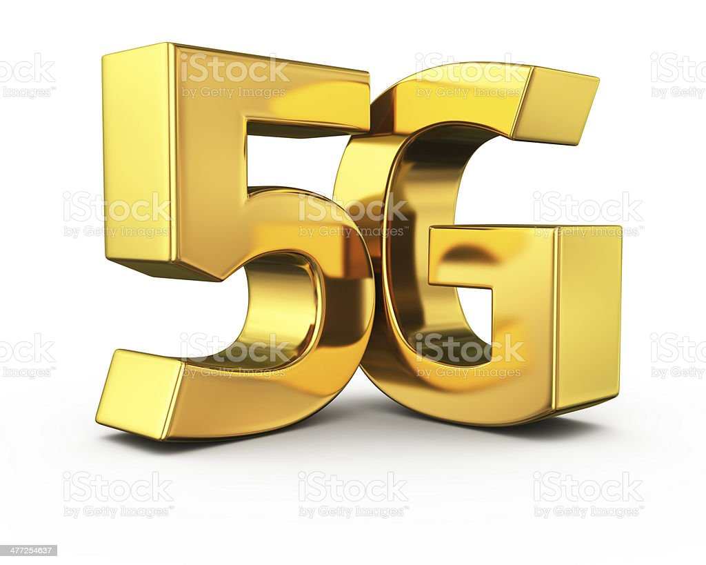 Gold 5G stock photo