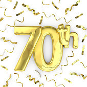 Gold 70th party birthday event celebration background