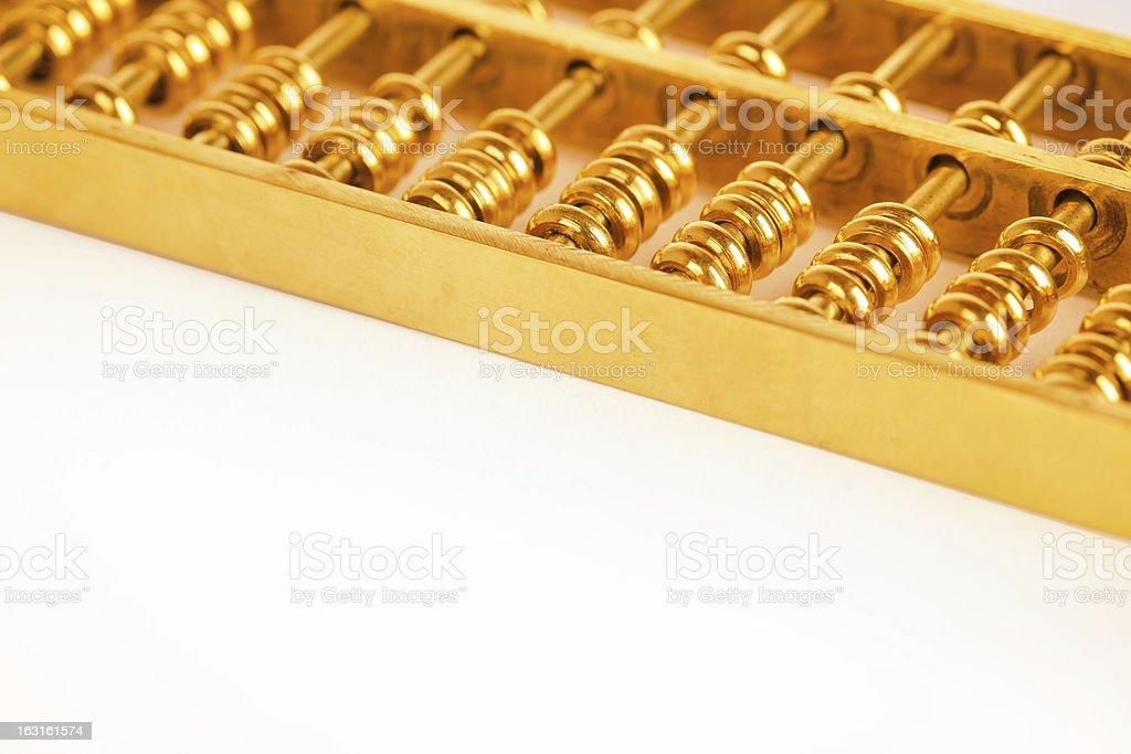 gold abacus closeup royalty-free stock photo