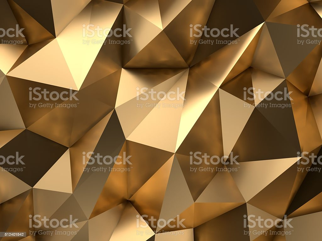 Gold Abstract 3D-Render Background stock photo