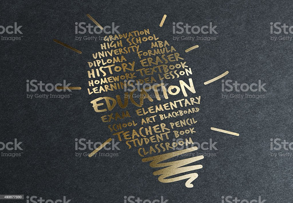 Gold Advice: Success in Education stock photo