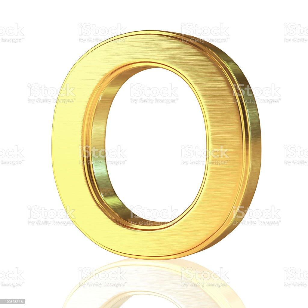 Gold Alphabet Letter O stock photo