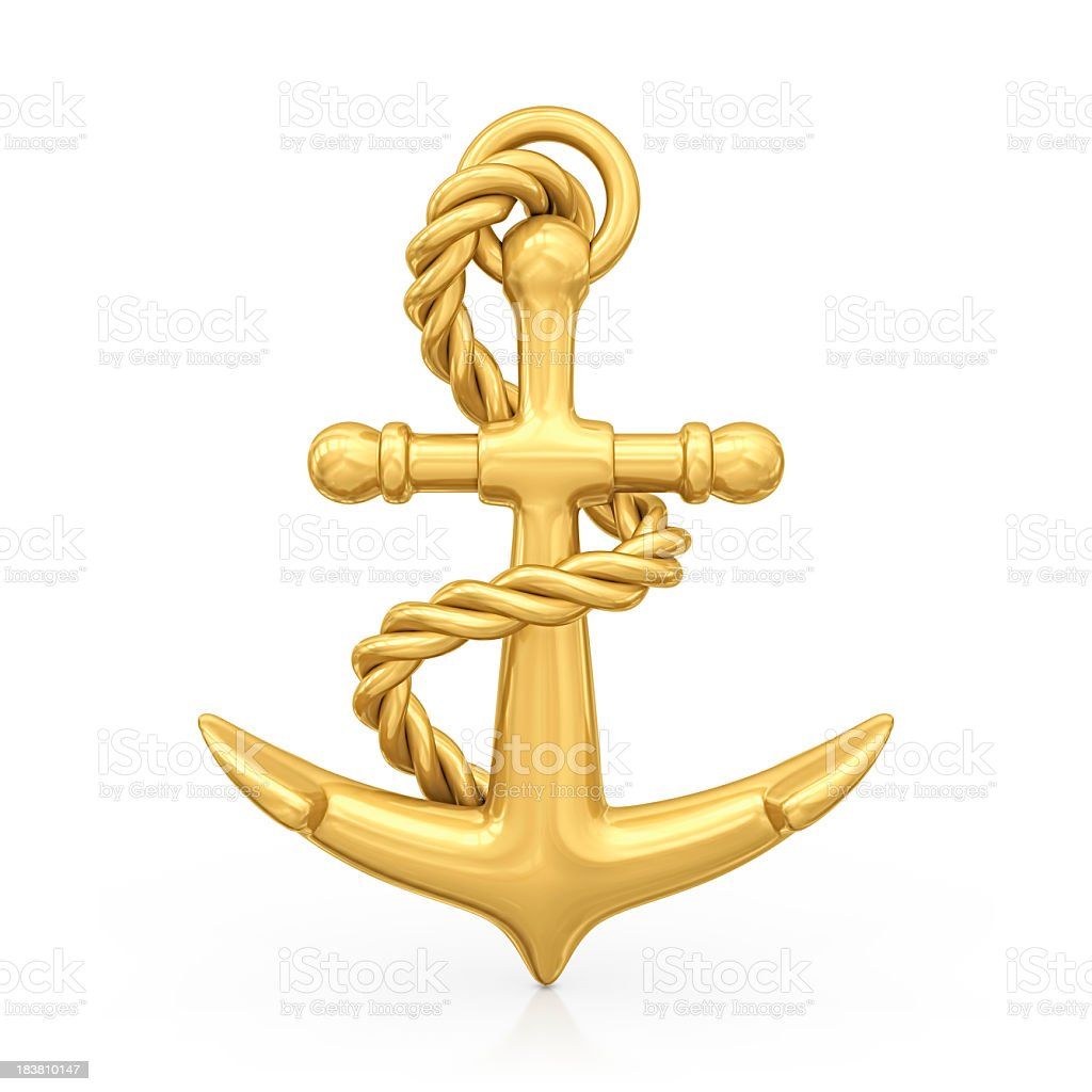 gold anchor royalty-free stock photo