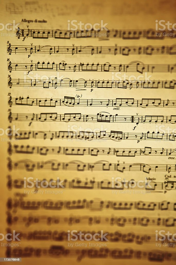 gold and amber musical sheet royalty-free stock photo