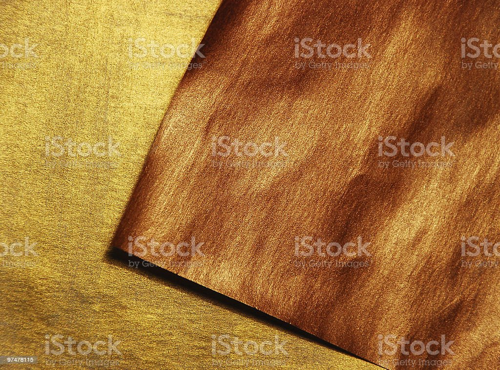 gold and bronze paper stock photo