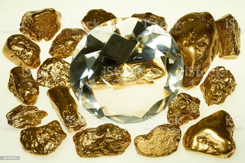 gold and diamonds stock photo
