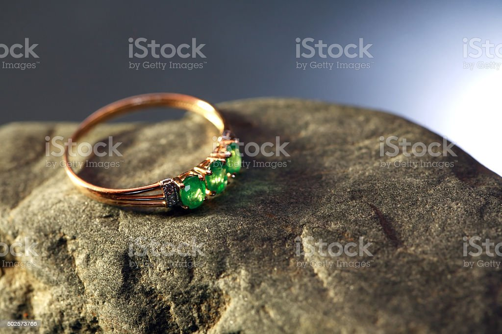 Gold And Emerald stock photo