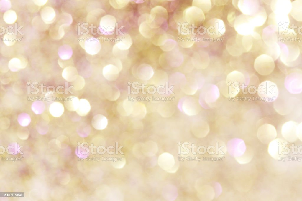 Gold and purple soft lights abstract background - soft colors stock photo