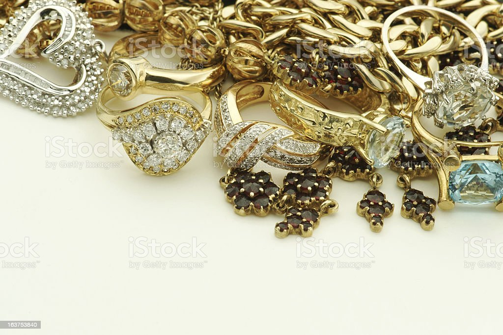 Gold and Silver Jewelry royalty-free stock photo